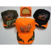 24 Units of BORN TO HUNT Hat [Gun in Rack-Bullet Holes]