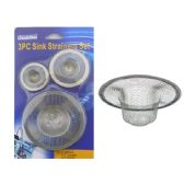 "96 Units of Sink Strainer 3pcs 4.4"",2.8"",2"" Diameter - Plumbing Supplies"