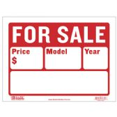 "72 Units of BAZIC 12"" X 16"" For Sale Sign (2-Line) - Signs & Flags"