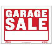 "360 Units of BAZIC 12"" X 16"" Garage Sale Sign - Signs & Flags"