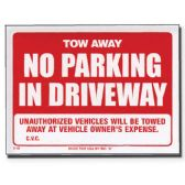 "72 Units of 12"" X 16"" Tow Away Sign - Signs & Flags"