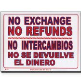 "72 Units of 12"" X 16"" No Intercambios No Se Devuelve El Dinero Sign - Signs & Flags"