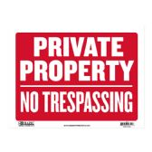"""480 Units of 9"""" X 12"""" Private Property No Trespassing Sign - Signs & Flags"""