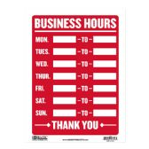 """480 Units of 9"""" X 12"""" Business Hours Sign - Signs & Flags"""