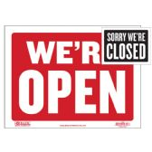 """480 Units of 9"""" X 12"""" Open Sign w/ Closed Sign on Back - Signs & Flags"""