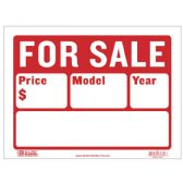 """480 Units of BAZIC 9"""" X 12"""" For Sale Sign (2-Line) - Signs & Flags"""