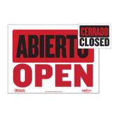 """480 Units of 9"""" X 12"""" Abierto Sign w/ Cerrado Sign on Back - Signs & Flags"""