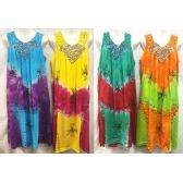 12 Units of Free Size Tie Dye Long Dress with Embroidery