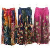 12 Units of Adjustable Waist Tie Peacock Print Skirt - Womens Skirts