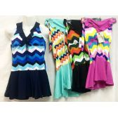 12 Units of Chevron Print Two-piece Sets Swim Suits Assorted - Womens Swimwear