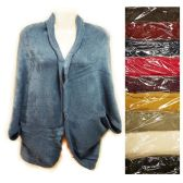 12 Units of Knit Woman sweater wrap shawl jacket assorted colors - Womens Sweaters / Cardigan