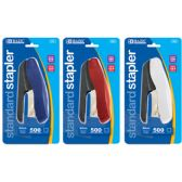 144 Units of BAZIC Two Tone Standard (26/6) Stapler w/ 500 Ct. Staples - Staples and Staplers