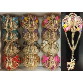 12 Units of Fancy Bangle Elephant Design with Ring Assorted