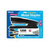 24 Units of BAZIC Metal Full Strip Stapler Set - Staples and Staplers