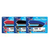 24 Units of BAZIC Desktop Full Strip Stapler Set - Staples and Staplers