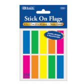 "144 Units of BAZIC 25 Ct. 0.5"" X 1.7"" Neon Color Coding Flags (10/Pack) - Dry Erase"