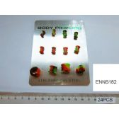 72 Units of Multi-Colored Ear Plug Body Jewelry - Jewelry Box