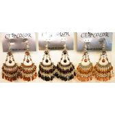 96 Units of Bohemian Chandelier Long Dangle Earrings - Earrings