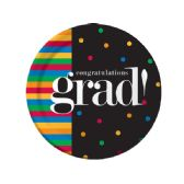 72 Units of Grad U Made It Round Plates Set - Party Paper Goods