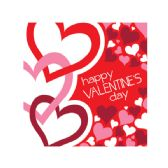 72 Units of Happy Valentine's Day Lunch Napkins Set - Napkin and Paper Towel Holders