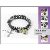 96 Units of Bead coiled religious picture bracelet