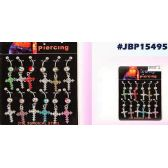60 Units of Cross Style Belly Button Body Jewelry/ Boby Piercing