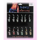 60 Units of Bodyjewelry/ Body piercing Bunny Belly Button Ring