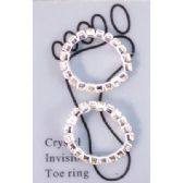 96 Units of Toe ring with rhinestone
