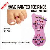 48 Units of JULIANA HAND PAINTED TOE RINGS