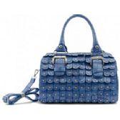 4 Units of Boston Studded Purse w/ long Straps Iris Blue - Leather Purses and Handbags