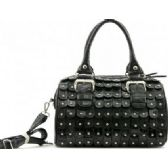 4 Units of Boston Studded Purse w/ Long Straps Black - Leather Purses and Handbags