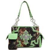 4 Units of western rhinestone cross camouflage purse with pouch - Leather Purses and Handbags