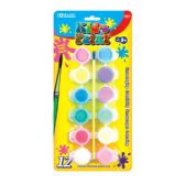 72 Units of BAZIC 12 Color 6ml Kid's Paint w/ Brush