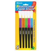 72 Units of BAZIC Jumbo Watercolor Paint Brush (5/Pack)