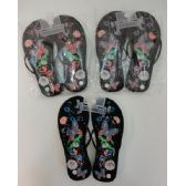 48 Units of Ladies Flip Flops [Large Butterfly & Flowers]