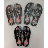 48 Units of Ladies Flip-Flops [Large Flower & Butterfly]