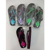48 Units of Ladies Platform Flip-Flops [Sequin Flower]