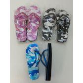 36 Units of Ladies Platform Flip-Flops [Sparkle Camo]