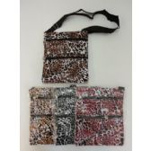 48 Units of Large Cross Body Hand Bag [Leopard Print] - Shoulder Bags & Messenger Bags