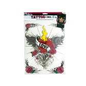 90 Units of Iron-On Love with Wings Tattoo Transfer - Tattoos and Stickers
