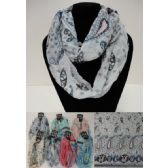 12 Units of Light Weight Infinity Scarf [Paisley Pastel] - Womens Fashion Scarves