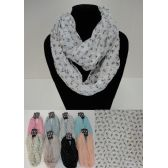 12 Units of Light Weight Infinity Scarf [Small Anchors] - Womens Fashion Scarves