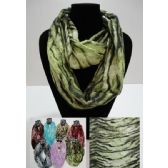 12 Units of Light Weight Infinity Scarf [Zebra Print] - Womens Fashion Scarves