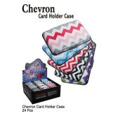 24 Units of CHEVRON CARD HOLDER CASE - Card Holders and Address Books