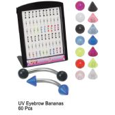 120 Units of UV BANANA EYEBROW PIERCING