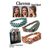 72 Units of CHEVRON HEAD BANDS - Headbands
