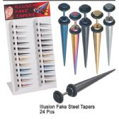 48 Units of ILLUSION FAKE STEEL TAPERS