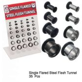 70 Units of SINGLE FLARED STEEL FLASH TUNNELS