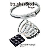18 Units of STAINLESS STEEL BANGLES - Bracelets