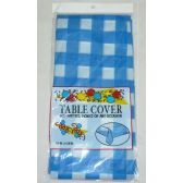 96 Units of 54*108 Checkered Table Cloth - Blue Color - Table Cloth